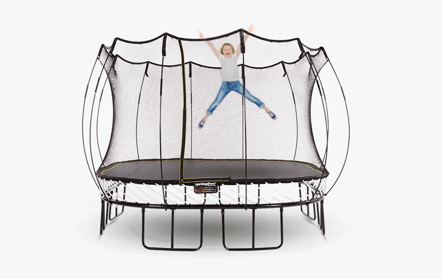 Safety Net Enclosed - Large Square Springfree Trampoline For Sale, Transparent Clipart