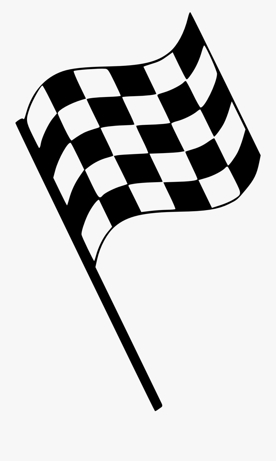 Checkered Flag Start Stop Race Png Image - Finish Line Flag Png, Transparent Clipart
