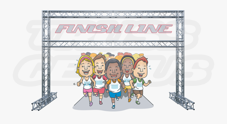 Collection Of Marathon - Animated Pics Of A Finish Line, Transparent Clipart