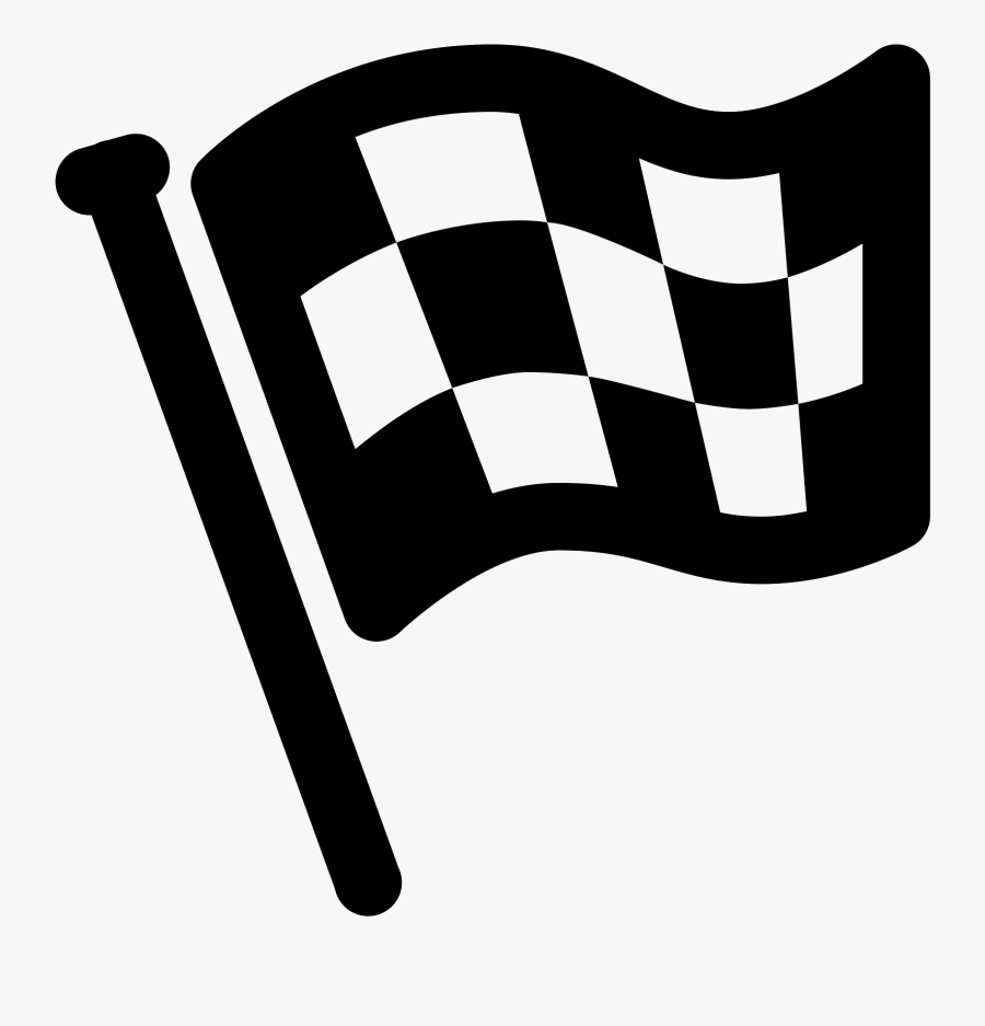 Flags Clipart Finish Line - Finish Flag Png Icon, Transparent Clipart