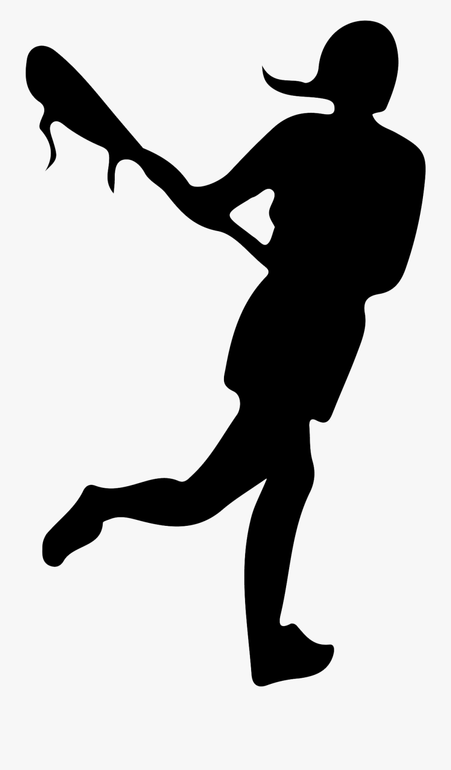 "Women""s Lacrosse Sport Lacrosse Sticks Ball - Lacrosse Girl Player Silhouette, Transparent Clipart"