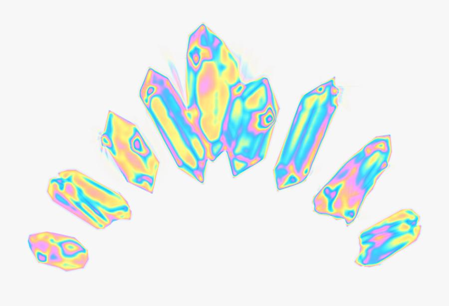 #crystal #crown #holographic  #dinaaaaaah  #freetoedit - Crystal Crown Transparent, Transparent Clipart