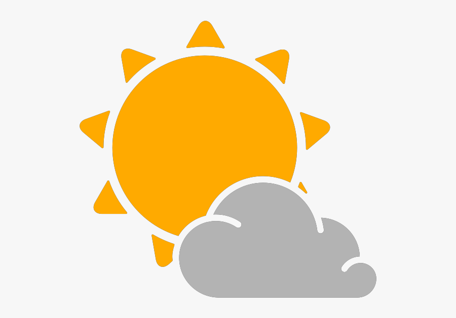 Simple Weather Icons Partly Cloudy Svg Vector Clipart - Sunny Weather Icon Png, Transparent Clipart