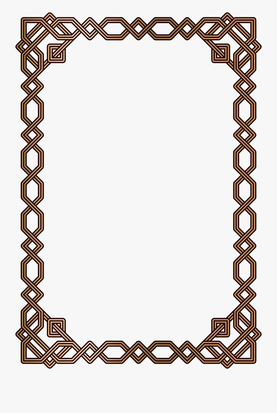 Rectangle Decorative Borders Vector Clipart , Png Download - Decorative Frames, Transparent Clipart