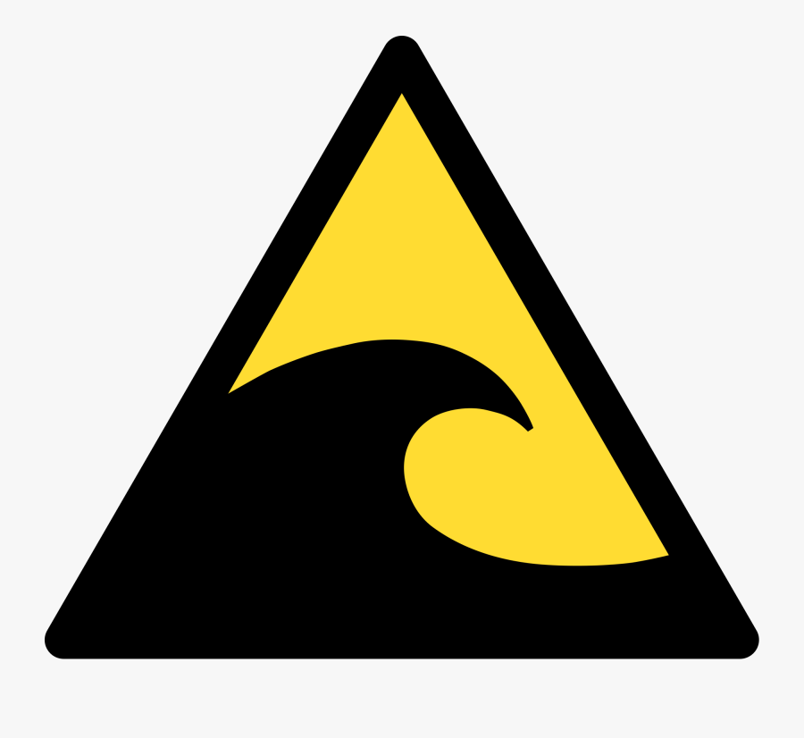 tsunami warning sign free transparent clipart