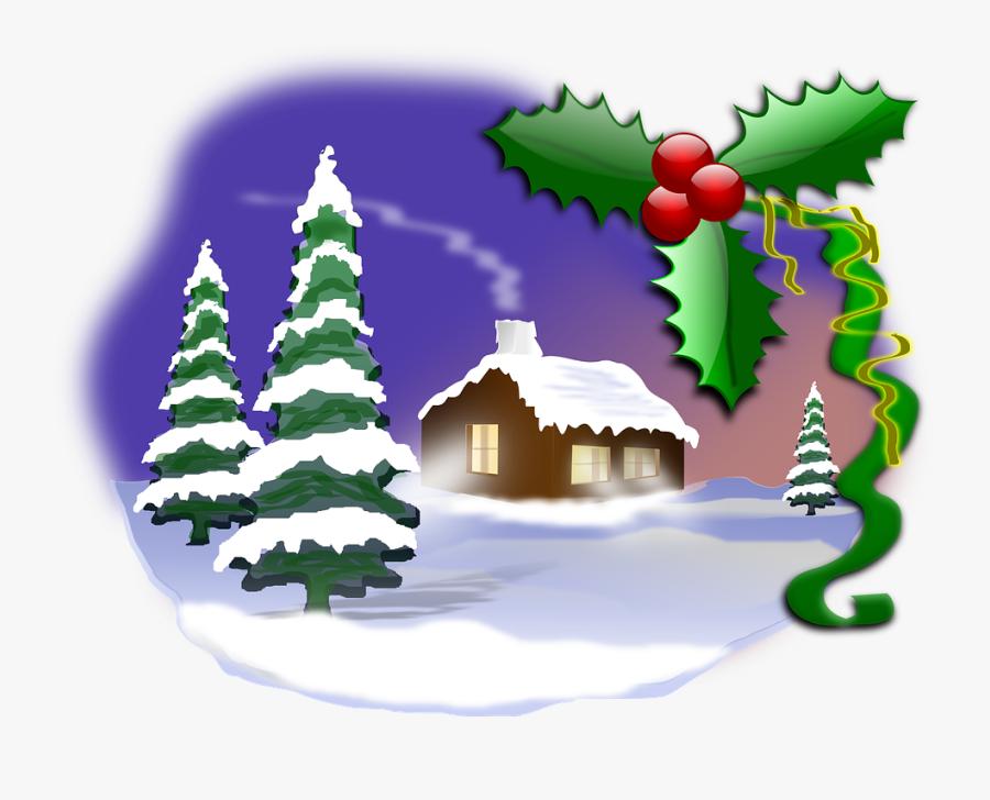 Christmas Scene Clip Art, Transparent Clipart