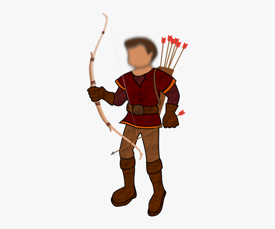 Hero Clipart Arrow - Cartoon Heroes With Bow And Arrows, Transparent Clipart