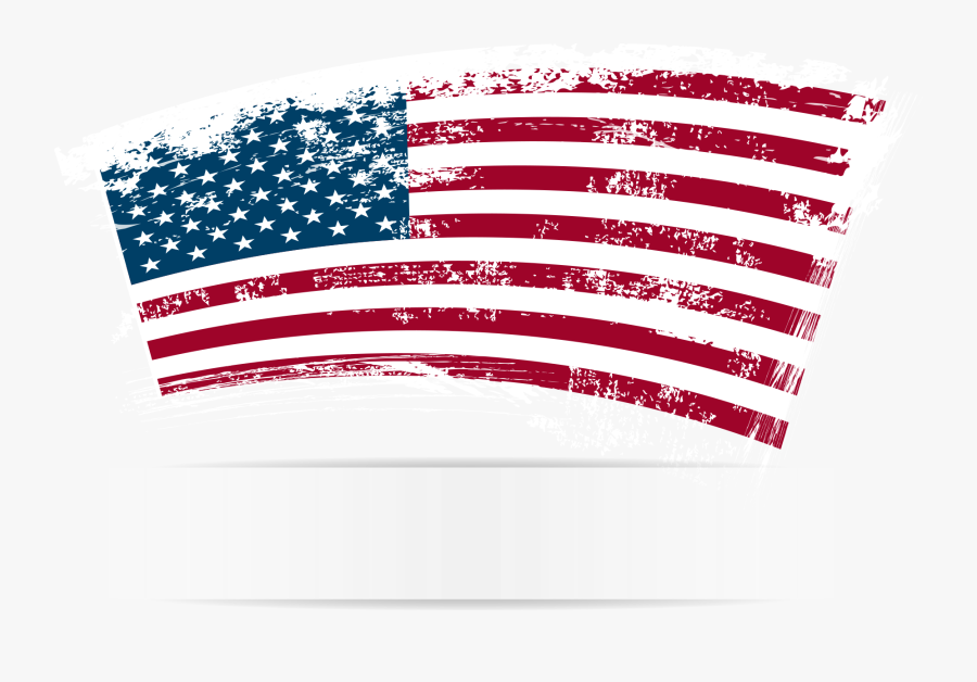 Clip Art American Flag Vector - Office Closed Presidents Day, Transparent Clipart