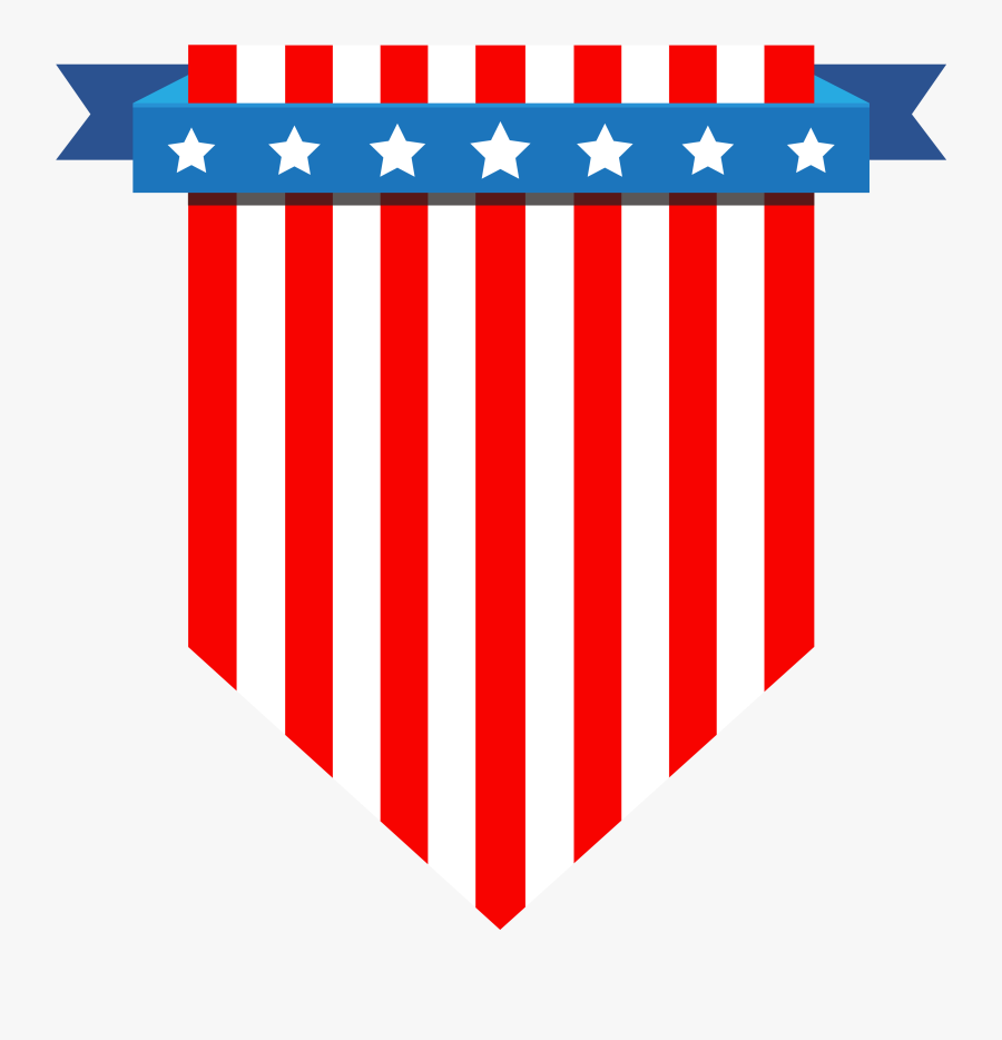 American Flag Vector - Usa Independence Day Icon Png, Transparent Clipart