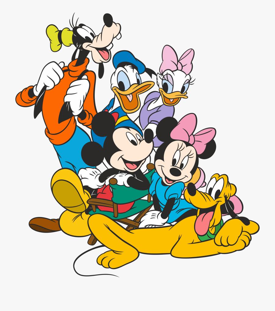 Prinde Promotia Iernii Pe Stickereonline - Mickey Mouse Donald Duck Goofy Pluto Daisy Duck Minnie, Transparent Clipart
