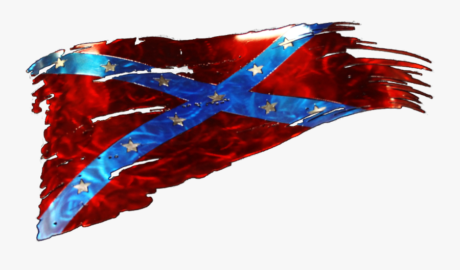 Tattered American Flag Vector - Distressed Confederate Flag Stickers, Transparent Clipart