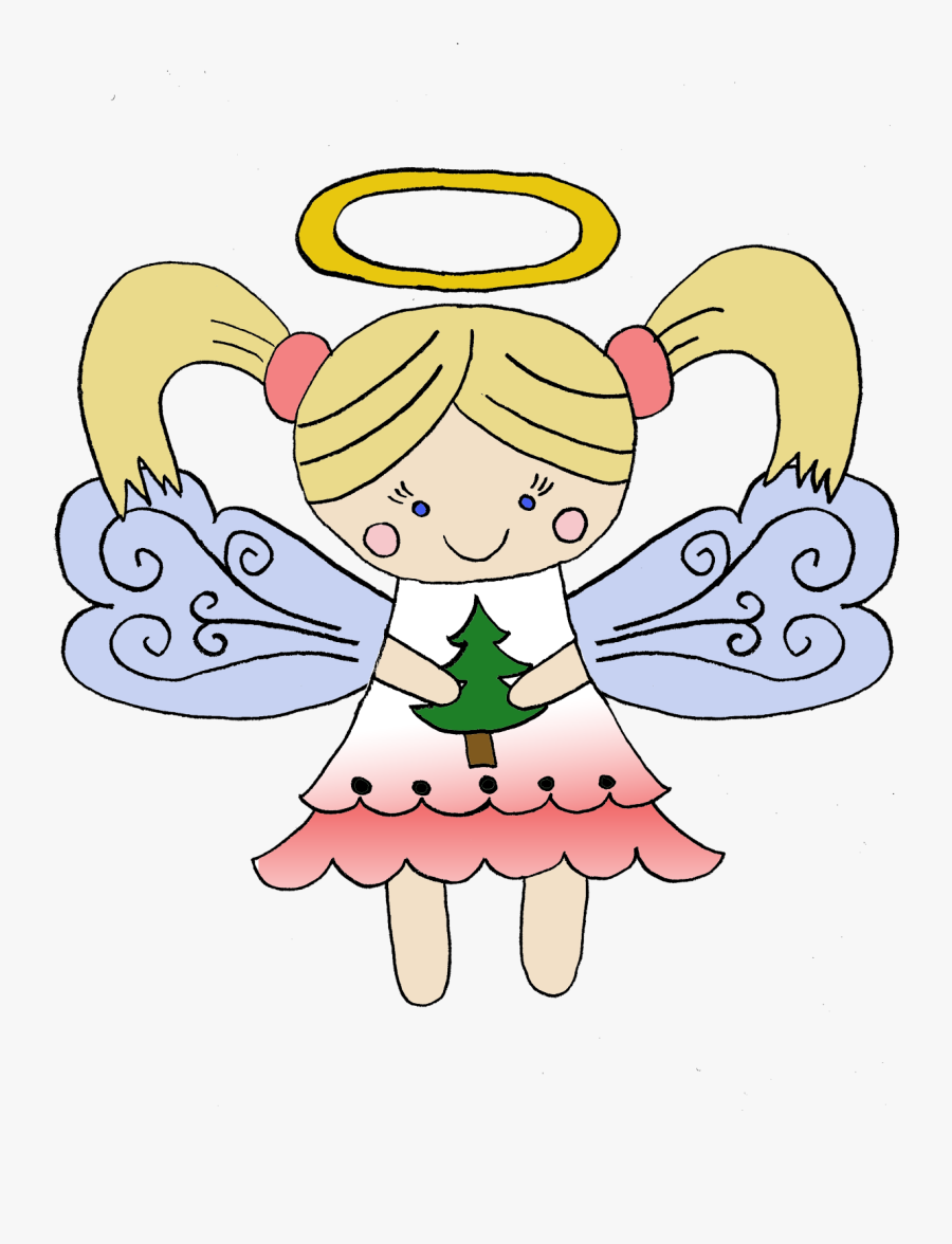 Eri Doodle Designs And Creations - Christmas Angel Cartoon Png, Transparent Clipart