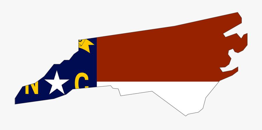 North Carolina, State, Usa, Flag, Map, America - North Carolina Map No Background, Transparent Clipart