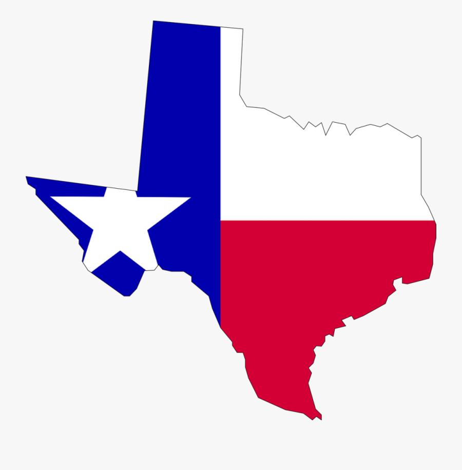 Texas, Flag, Map, Usa, America - Flag Map Of Texas, Transparent Clipart