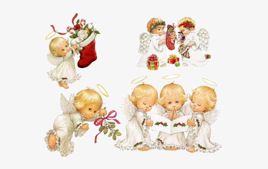 Cherub Christmas Angel Holiday Clip Art - Angel 5d, Transparent Clipart