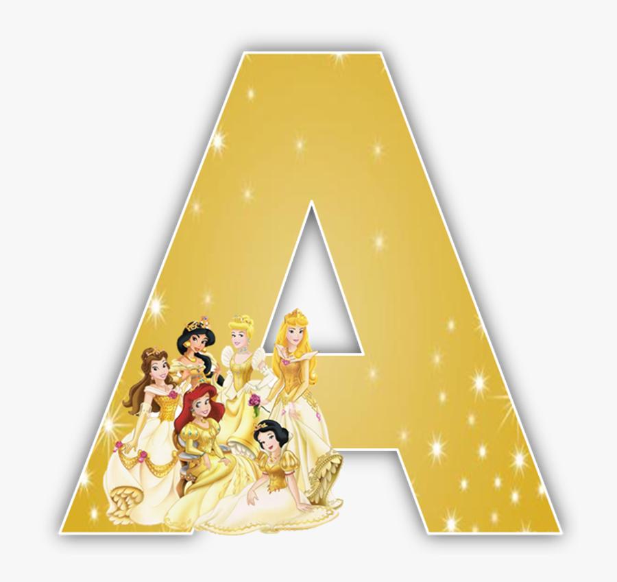 Princess Clipart Letter - Disney Princess Alphabet Letters, Transparent Clipart
