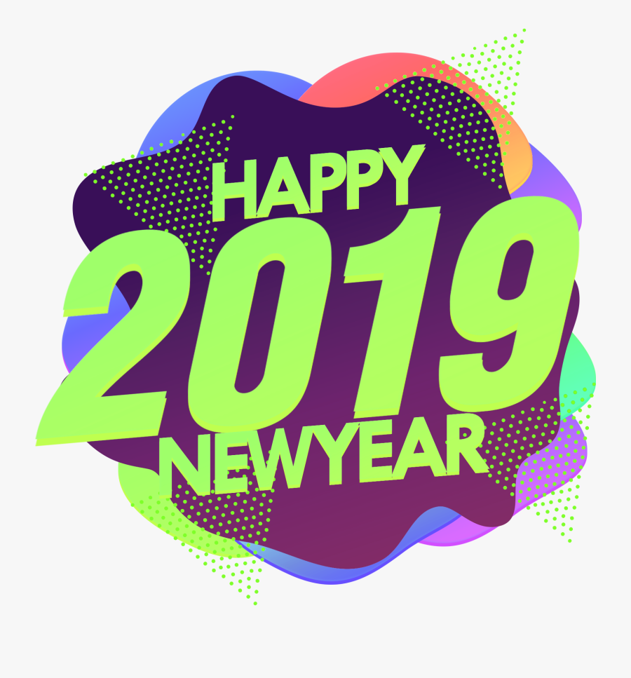 Happy 2019 New Year Png Image - Illustration, Transparent Clipart