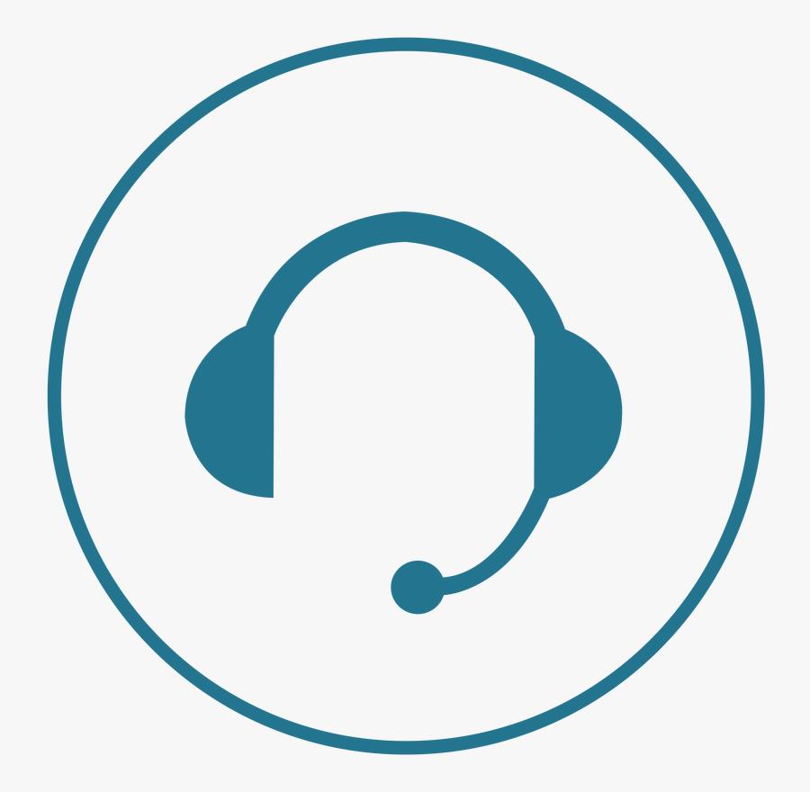 Headset Studios Backbone Sports - Help Desk Headset Icon, Transparent Clipart