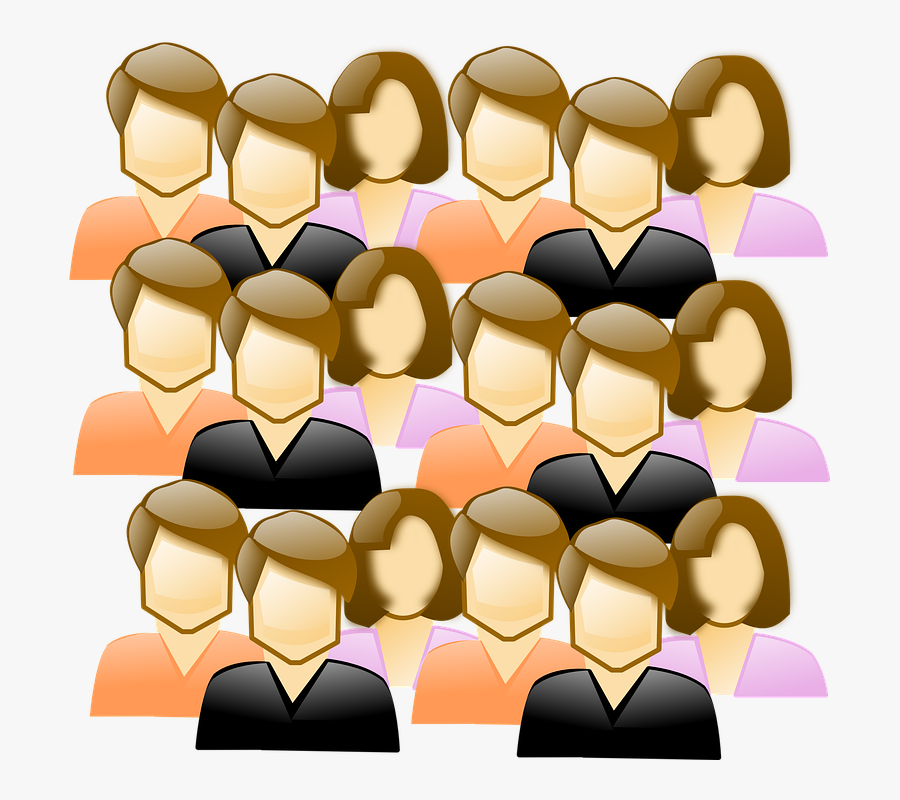 Crowd - Clipart - Clipart Crowd Of People, Transparent Clipart
