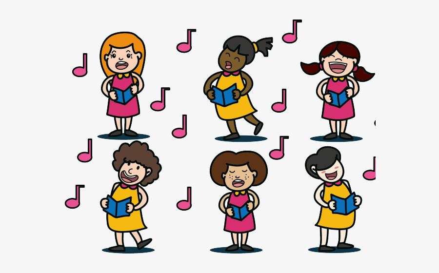 Transparent Notas Musicales Vector Png - Coral De Mulheres Desenho, Transparent Clipart