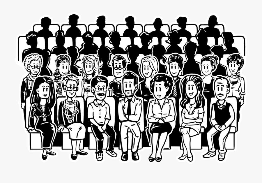 Audience Drawing At Getdrawings - Audience Clipart Black And White, Transparent Clipart