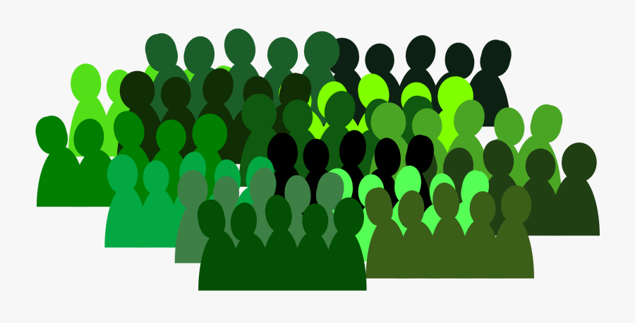 People Group Crowd Team Isolated Connection Green Drawing - Drawing Group Of People Png, Transparent Clipart