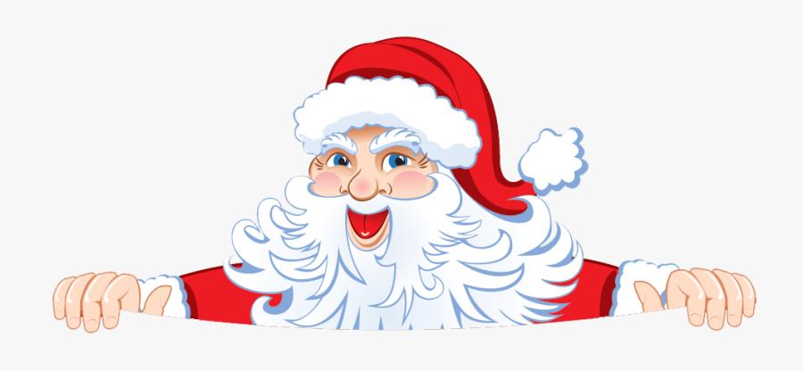 Clip Art Santa Peeking - Merry Christmas 2018 Png, Transparent Clipart
