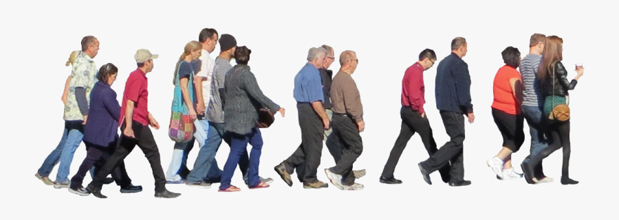 Crowd Walking Png - Crowd Of People Png, Transparent Clipart