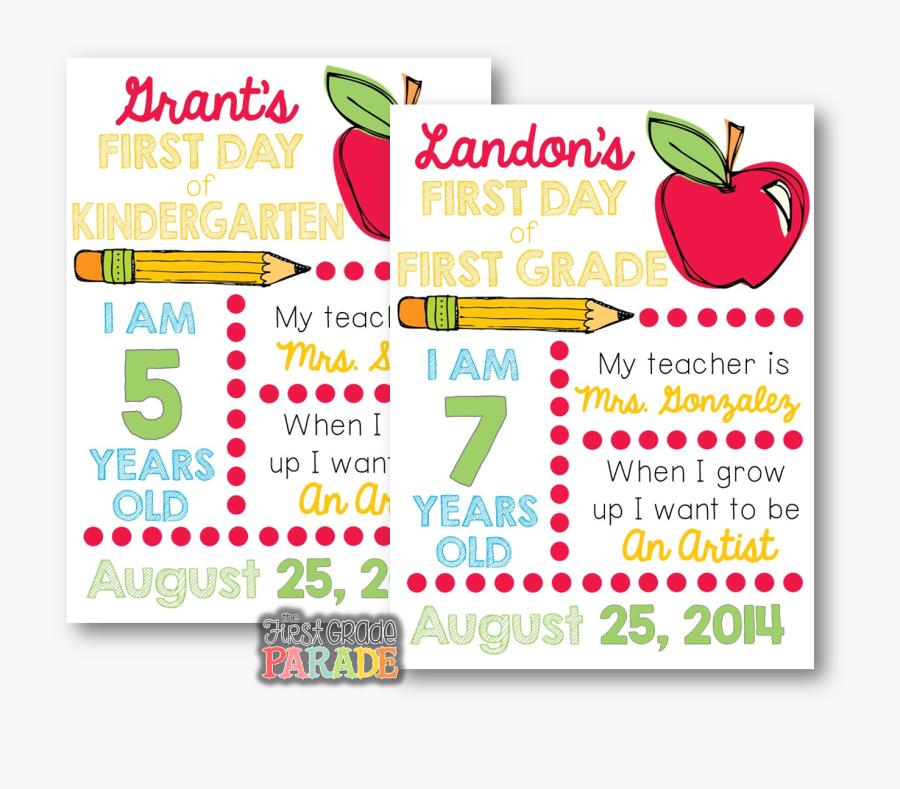 Transparent School Days Clipart - Free Printable Sign First Day Of School 2018 2019, Transparent Clipart