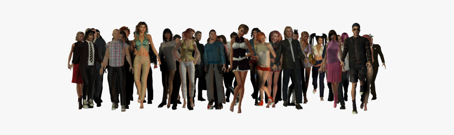 58381 - Crowd Of People Transparent Background, Transparent Clipart