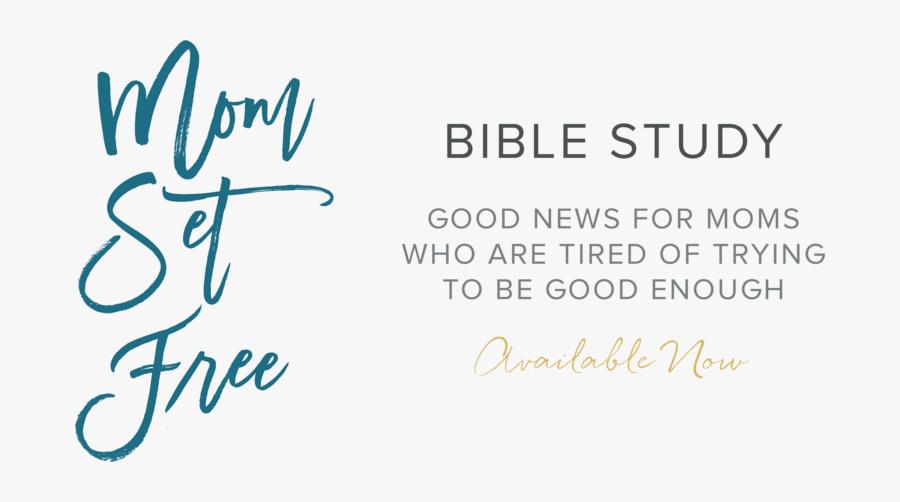 Clip Art Bible Study Images - Mom Set Free Bible Study, Transparent Clipart