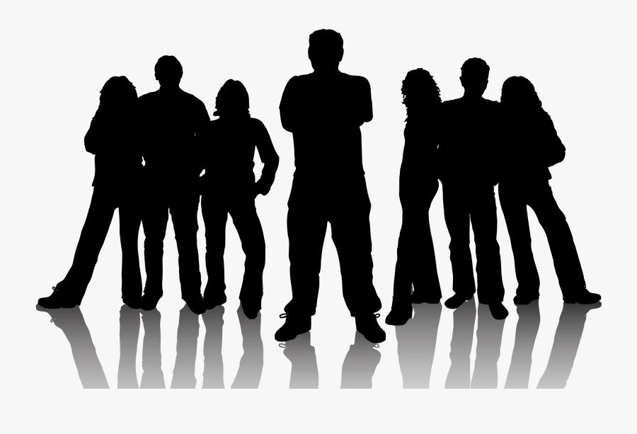 Clip Art Freeuse Royalty Free Clip Art - Silhouette Of A Team, Transparent Clipart