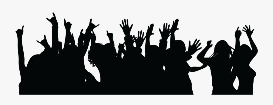 28 Collection Of Party People Clipart Png - Silhouette Party People Png, Transparent Clipart