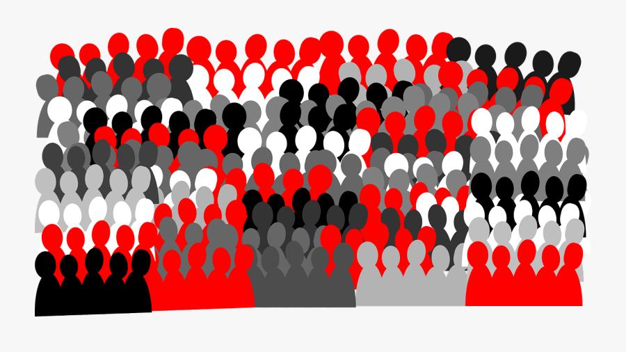 Crowd Of People Clip Art, Transparent Clipart