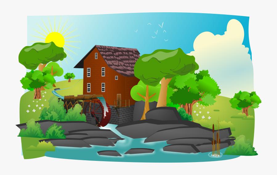 Free Countryside Landscape Clip Art - Landscape Clipart, Transparent Clipart