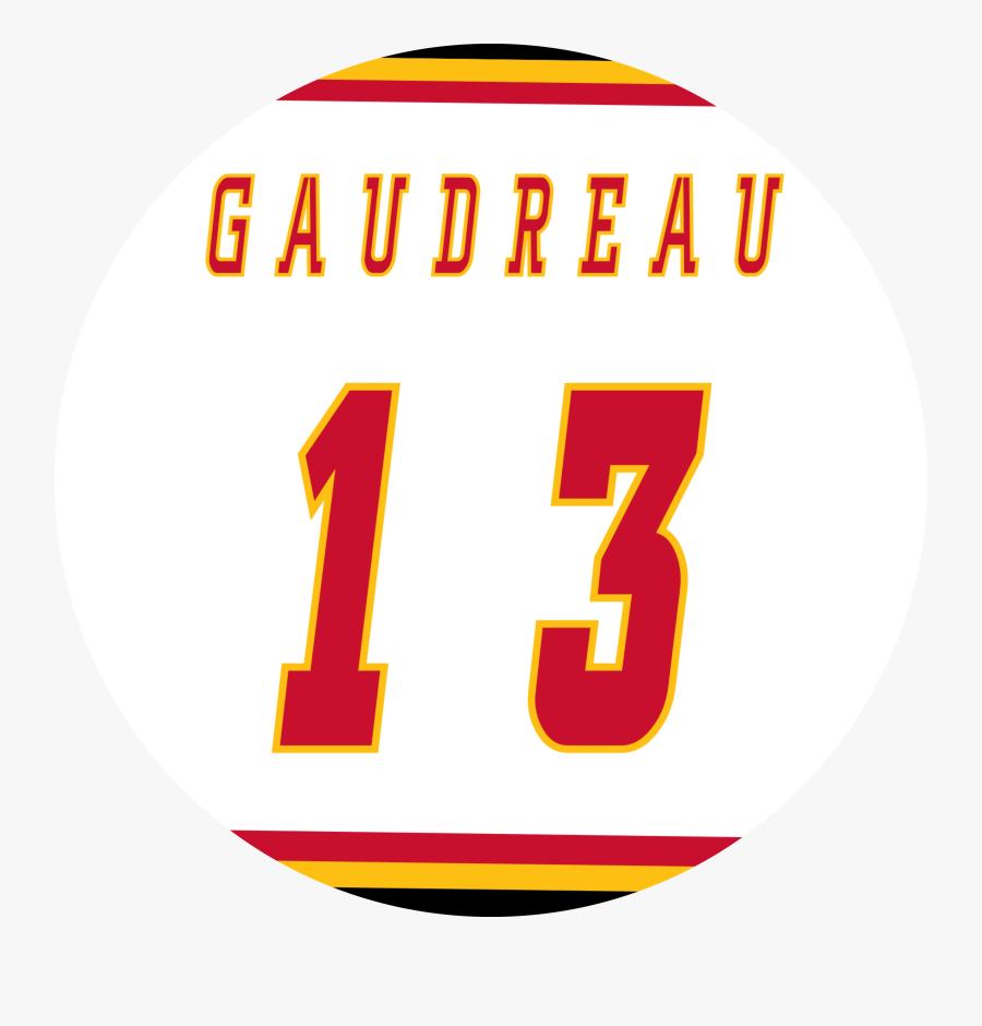 Gaudreau Away Jersey - Circle, Transparent Clipart