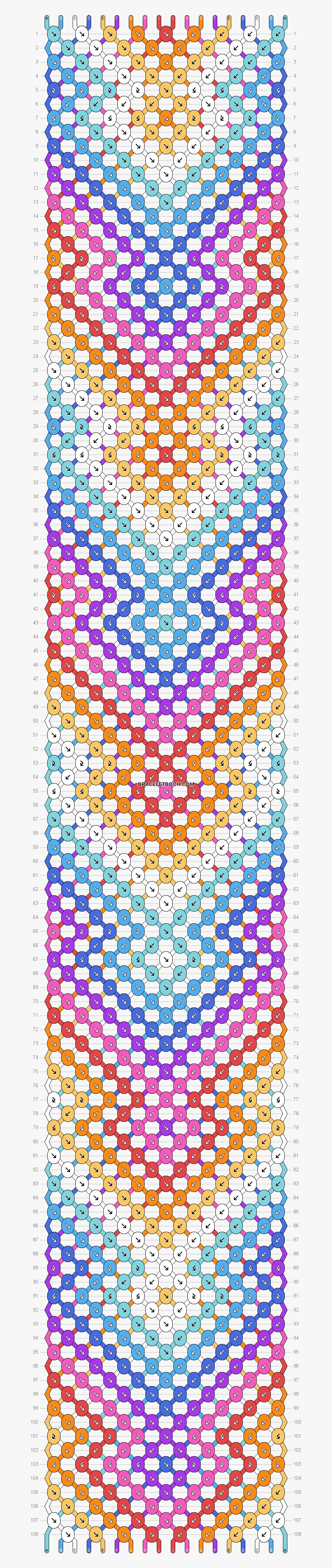 Arrowhead Aztec Friendship Bracelet Pattern, Transparent Clipart