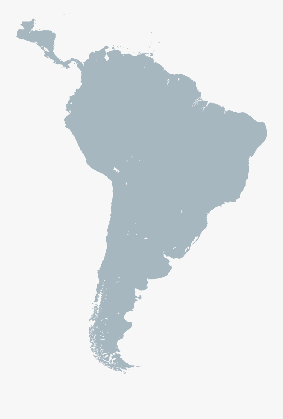 South America Map Png, Transparent Clipart
