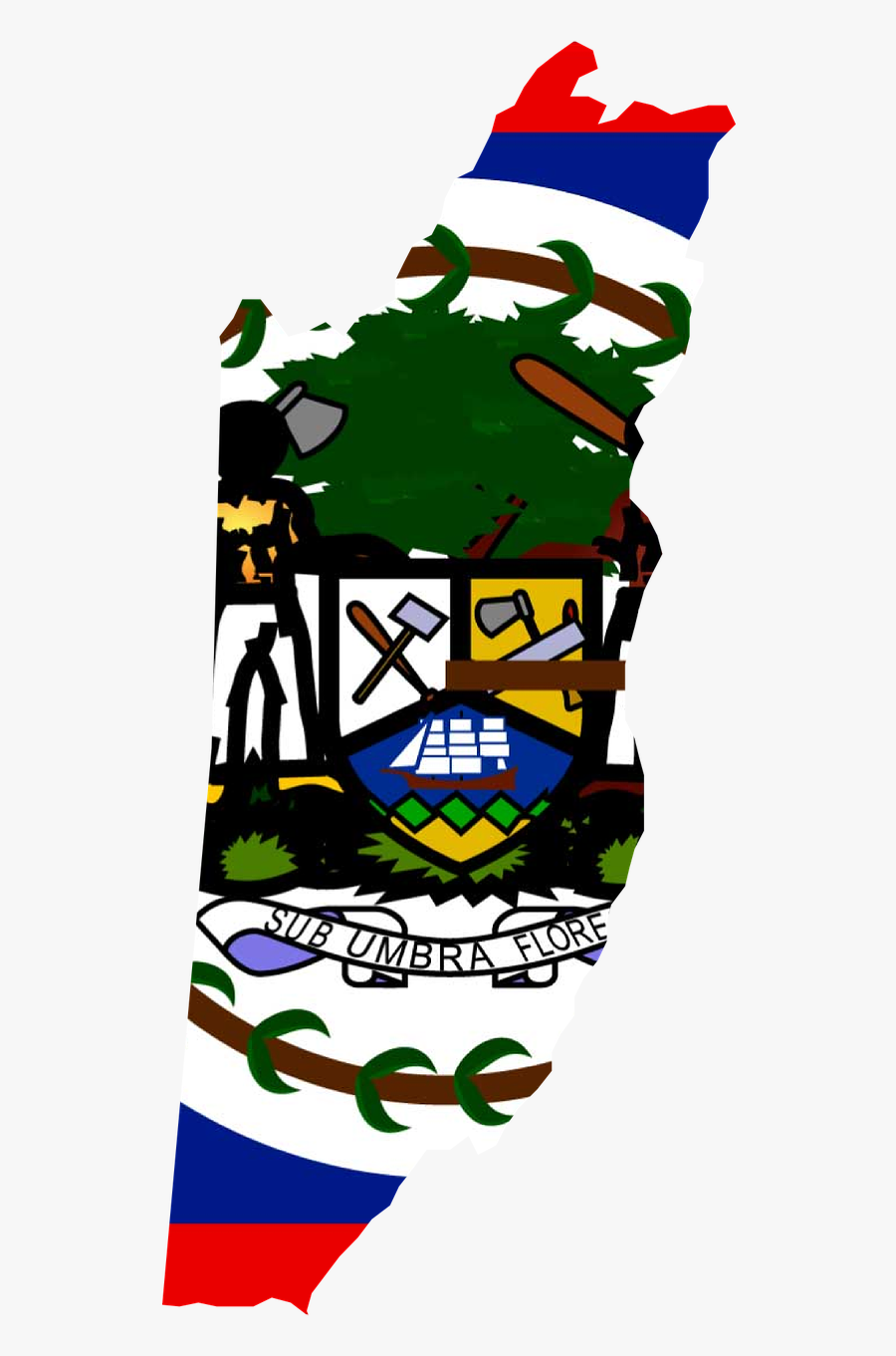 Belizean Coat Of Arms, Transparent Clipart