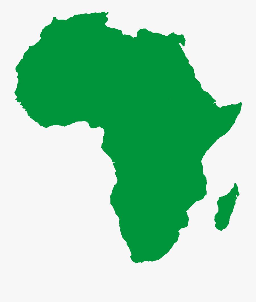 Africa Map Png Black, Transparent Clipart