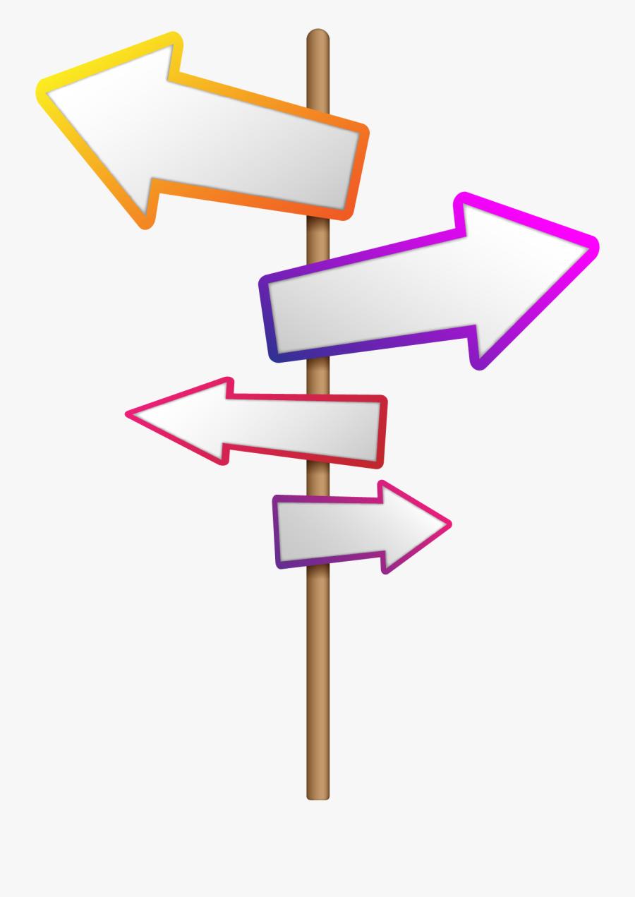 Vector Banner Double - Flechas De Señalizacion Vector, Transparent Clipart