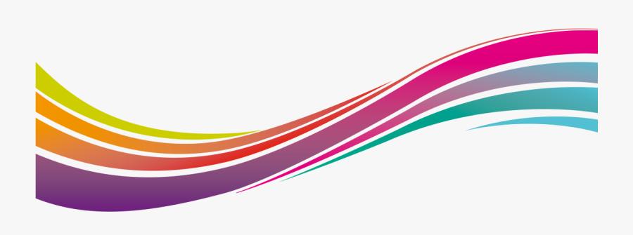 Graphic Dynamic Lines Transprent - Color Line Design Png, Transparent Clipart