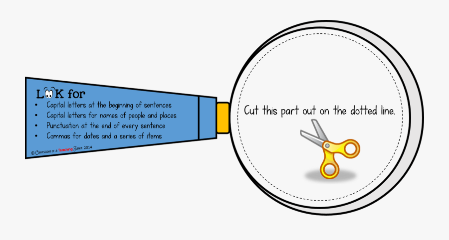 Magnifying Glass Writing Template, Transparent Clipart