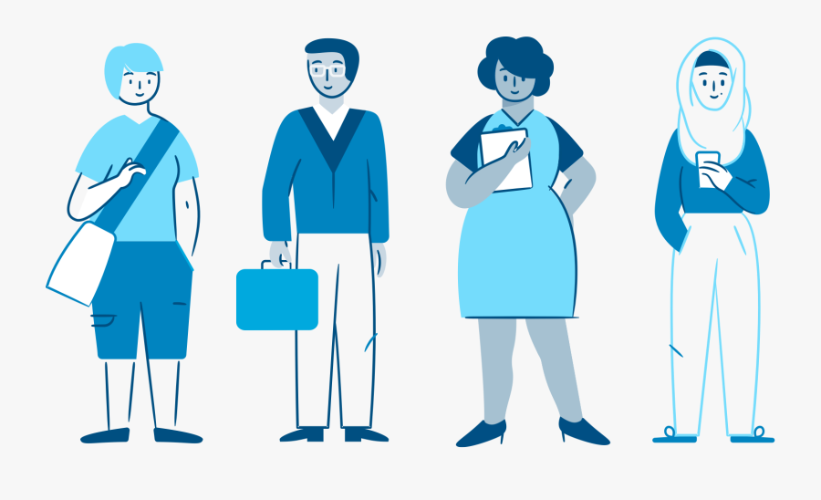 Full-body Design Of Different Characters - Character Illustrations Gender Neutral, Transparent Clipart