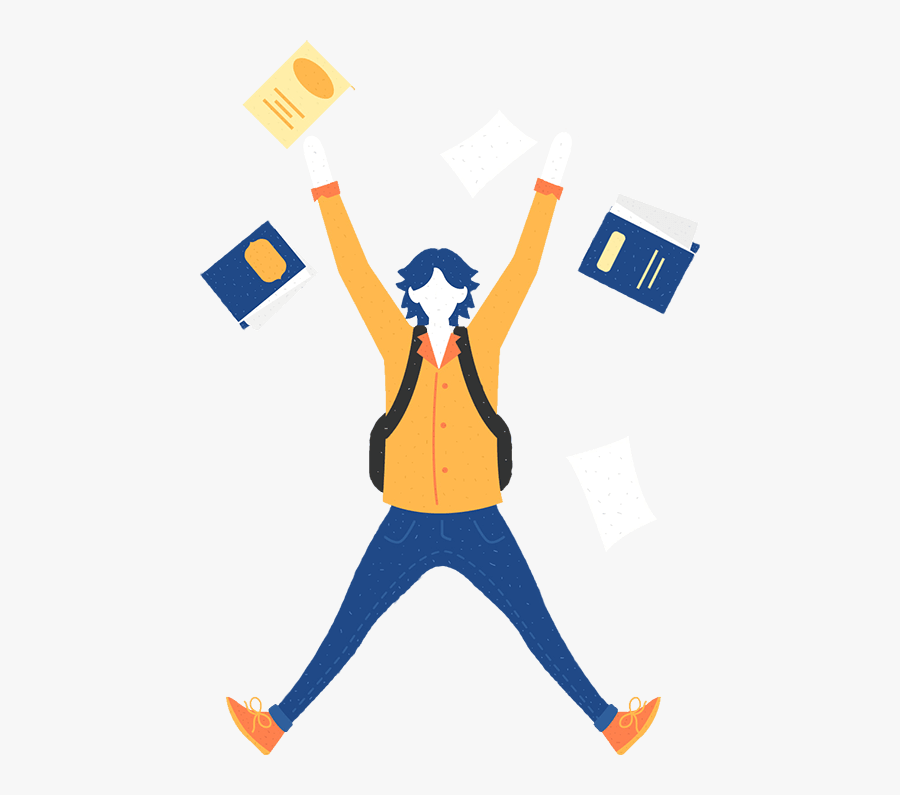 Student Jumping Up Clipart, Transparent Clipart