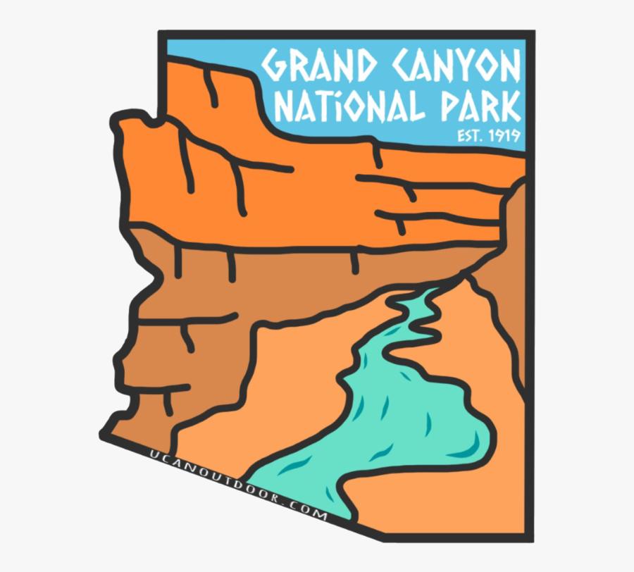Grand Canyon National Park Sticker , Transparent Cartoons, Transparent Clipart