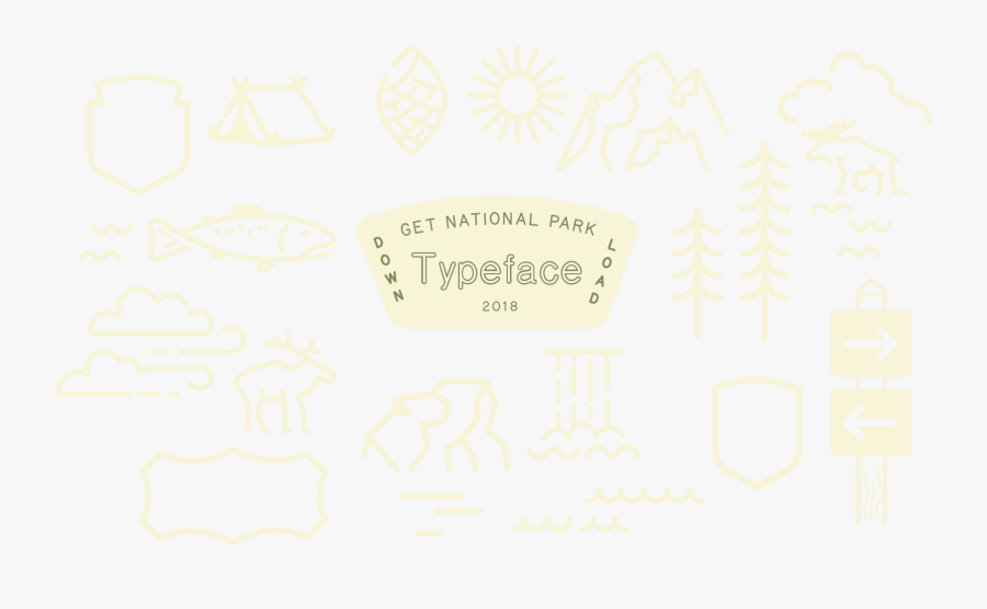 Clip Art Typeface Entering Rocky Mountain - National Park Design, Transparent Clipart