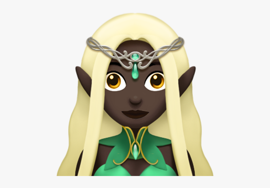 """Apple""""s New Elf Emoji, Which Looks To Have Been Inspired - Dungeons And Dragons Emojis, Transparent Clipart"""