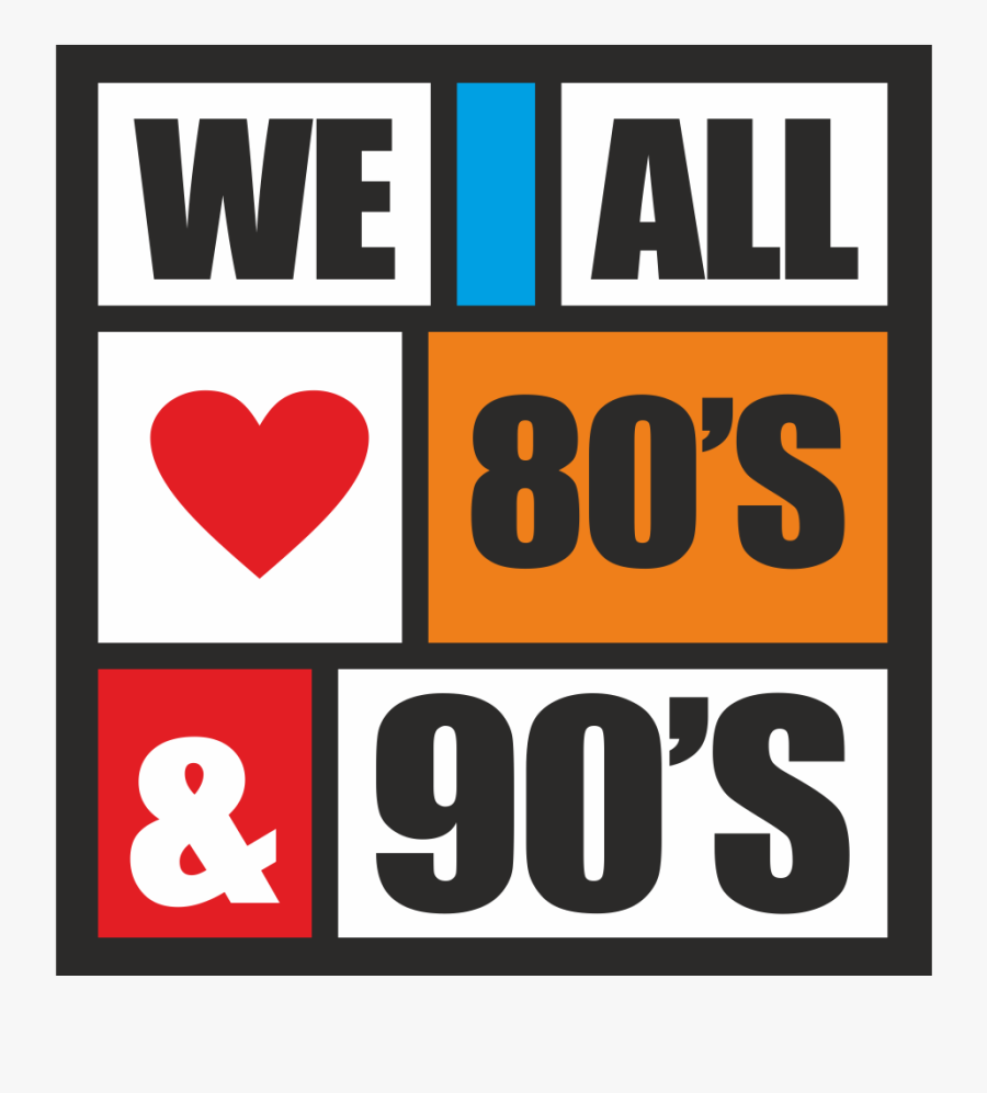 Love 80 And 90, Transparent Clipart