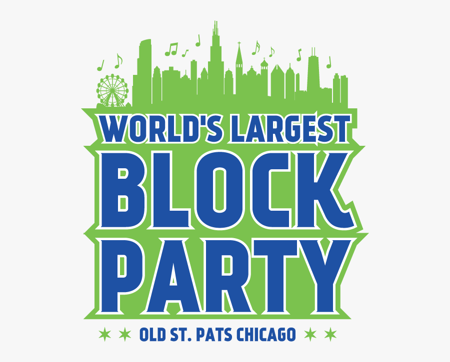 Clip Art Block Party Image - World's Largest Block Party Chicago 2018, Transparent Clipart